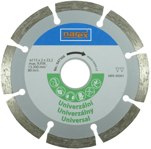 Dia 115 Universal - Diamantový řezný kotouč - universal sintrovaný