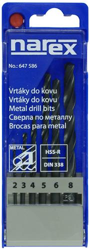 6-SET METAL HSS - Sada vrtáků do kovu HSS-R