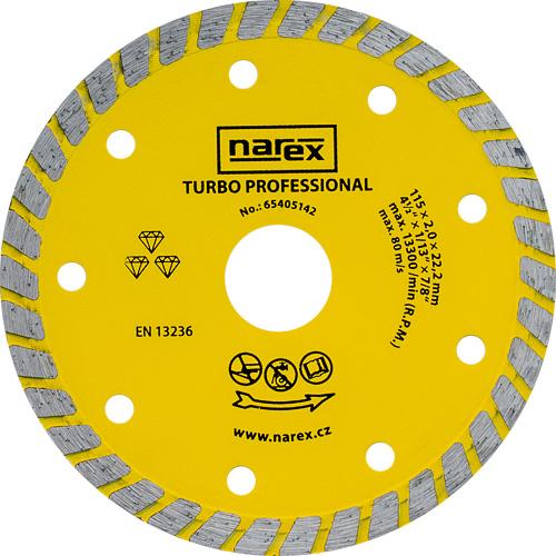 DIA 115 TP - Diamantový dělicí kotouč pro stavební materiály TURBO PROFESSIONAL