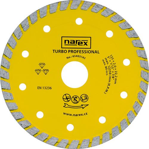 DIA 125 TP - Diamantový dělicí kotouč pro stavební materiály TURBO PROFESSIONAL